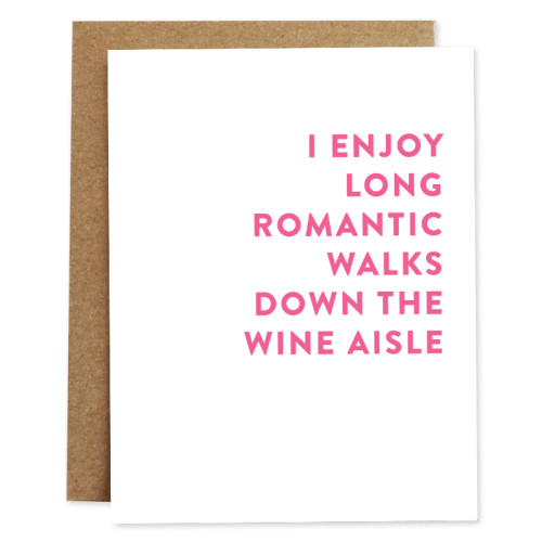 rhubarb paper co card WINE AISLE