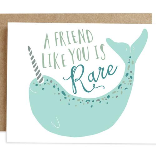 rhubarb paper co card NARWHAL FRIENDSHIP
