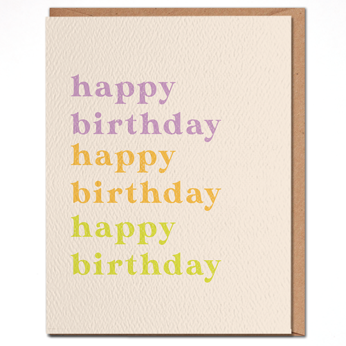 daydream card COLORFUL HAPPY BIRTHDAY