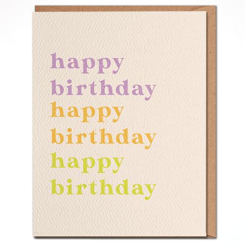 daydream card COLORFUL HAPPY BIRTHDAY