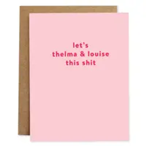 rhubarb paper card THELMA & LOUISE