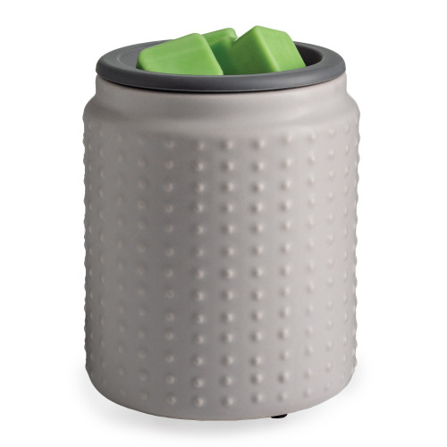 flip dish fragrance warmer GRAY HOBNAIL