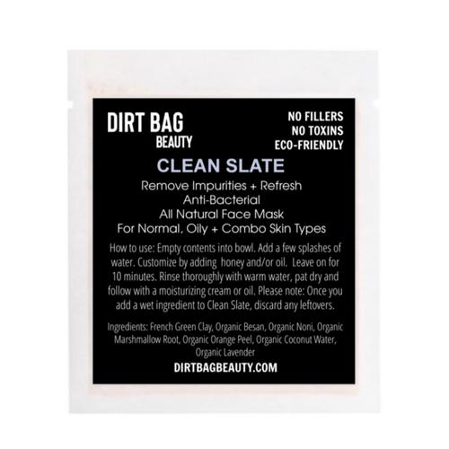 dirt bag face mask CLEAN SLATE