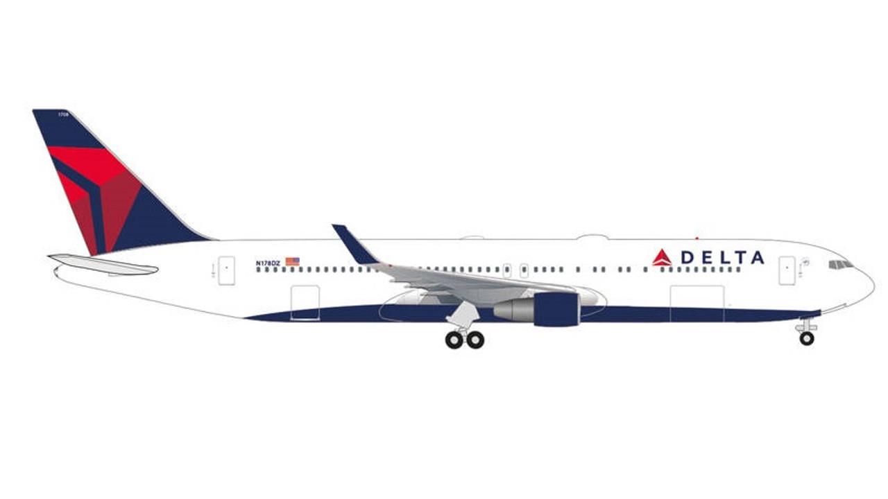 Neu Herpa 534185-1//500 Malév Hungarian Airlines Boeing 767-300