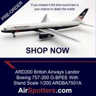 IT'S BACK ARD200 British Airways Landor Boeing 757-200 G-BPEE With Stand Scale 1/200 ARDBA7501A