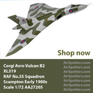 Corgi Scampton Vulcan now arriving and cleared to land