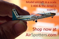 THE DETAIL IS SUPERB ON MODEL 1:400 MODEL AIRCRAFT