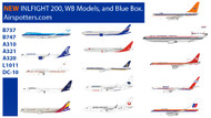 New Inflight 200 models WB Models and Blue Box Models
