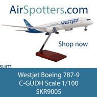 NEW Westjet Boeing 787-9 Scale 1/100