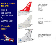 Top 3 best selling models for August 2020 form Gemini jets and Gemini 200
