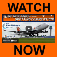 East Midlands airport 50 minutes of spotting action