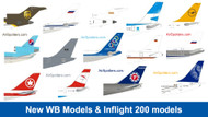 New WB Models and Inflight 200 models now listed