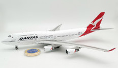 Inflight 200 Qantas LAST Boeing 747-400 VH-OEJ with stand and collectors coin Scale 1/200 QANTASLAST747