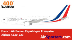 Aviation 400 French Air Force - Republique Française Airbus A330-223 with stand Scale 1/400 AV4332FAF
