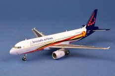 "Herpa Brussels Airlines Airbus A320 ""Red Devils"" Scale 1/200 556446"