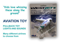 Westjet fun plane with lights and sound TT164-1