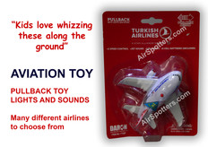 Turkish Airlines plane with lights and sound TT287