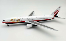 Inflight 200 TWA Boeing 767-3Q8-ER N634TW with stand Scale 1/200 IF763TW1120
