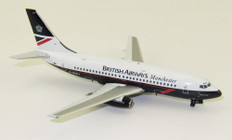 Blue Box British Airways Manchester Delamere Forest Boeing 737-200 G-BGDJ with stand Scale 1/200 WB732BA05