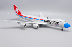 JC Wings Interactive Series Cargolux Not Without My Mask Boeing 747-8F LX-VCF With Stand Scale 1/200 JC20079C