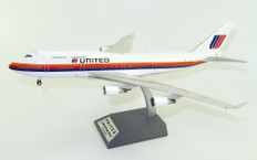 WB Models United Airlines Boeing 747-400 N187UA with stand  Scale 1/200 WB744UA187