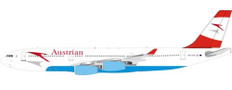 Inflight 200 Austrian Airlines Airbus A340-200 OE-LAG with stand Scale 1/200 IF3420S0819