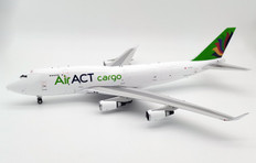Inflight 200 ACT Airlines Boeing 747-400BDSF TC-ACF with stand Scale 1/200 IF7449T1220