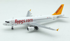 J Fox Pegasus Airlines Airbus A320-200 TC-DCJ with Stand Scale 1/200 JFA320039