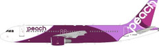 J Fox Peach Aviation Airbus A320-200 JA828P with Stand Scale 1/200 JFA320037