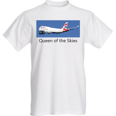British Airways Queen of the Skies T-Shirt Sizes M L XL
