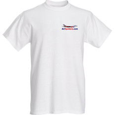 AirSpotters.com small logo T-Shirt Sizes M L XL