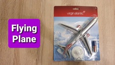 Premier Portfolio Virgin Atlantic Flying Plane 21cm long
