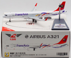Albatross Models TransAsia Airways  Airbus A321-200 B-22612 with stand Scale 1/200 ALB2TNA321
