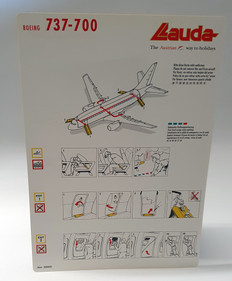 Lauda Boeing 737-700 safety card  laminated card