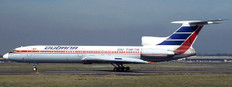 JC Wings Cubana Tupolev Tu154M CU-T1275 With Stand Scale 1/200 JCLH2284