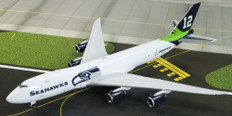 JC Wings Boeing Company Seattle Seahawks Livery Boeing 747-8F N841BA With Antenna Scale 1/400 EW4748007