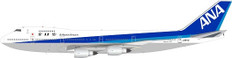 WB Models ANA All Nippon Airways Boeing 747-200 J8157 with stand Scale 1/200 WB742ANA8175