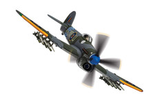 Corgi aviation Hawker Typhoon Shark Mouth Scale 1/72 AA36513