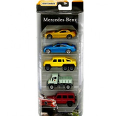Matchbox 5 car pack assorted Mercedes MATFHY44