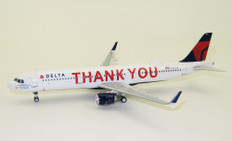 J Fox Models Delta Airlines A321-211 'Thank You' N391DN with stand Scale 1/200 JFA321008