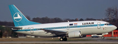 JC Wings Luxair Boeing 737-500 LX-LGR with stand Scale 1/200 JC20112