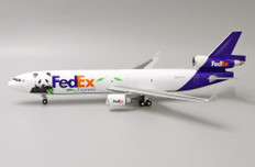 JC Wings Fedex MD-11F Panda Express No:3 N585FE with stand (Limited 180pcs) Scale 1/200 JC2284