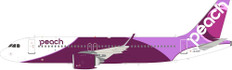 J Fox Peach Aviation Airbus A320-200 JA201P with Stand Scale 1/200 JFA320036