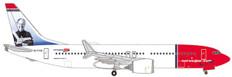 Herpa Wings Norwegian Air Shuttle Sir Freddie Laker Boeing 737 MAX 8 Scale 1/500 535229
