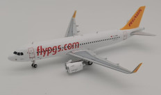 J Fox Models Pegasus Airlines Airbus A320-251NX TC-NBA with Stand Scale 1/200 JFA320038