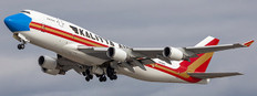 JC Wings Kalitta Air Mask Livery Boeing 747-400BCF Flap Down N744CK With Stand with stand Scale 1/200 JC20120A