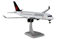 Hogan Wings Air Canada Airbus A220-300 C-GROV Snap fit with stand and gear Scale 1/200 HG11571