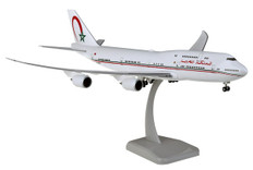Hogan Wings Morocco Government Boeing 747-8i CN-MBH Snap fit with stand and gear Scale 1/200 HG11618 (HG11618)