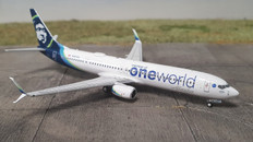 NG Models Alaska Airlines 737-900ER N487AS One World with scimitar winglets Scale 1/400 NG79001