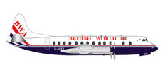 Herpa Wings British World Airlines Vickers Viscount 800 25th anniversary last Viscount passenger flight G-APEY 1/200 571463